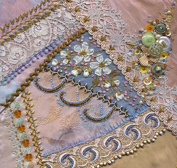 Crazy quilt embroidery on pinterest quilting