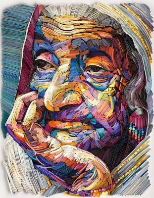 Work of Yulia Brodskaya Paper Artist