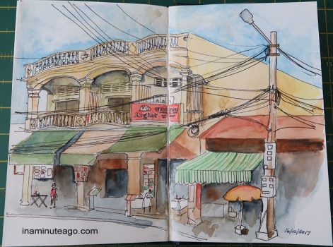 How I got over the biggest creative block of my life by Sketching in Kuching and Cambodia