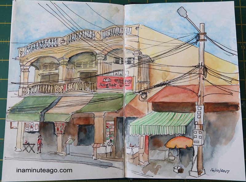 street scene in Kuching 2017