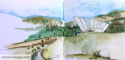 Urban sketching at the Arboretum Canberra - sketch