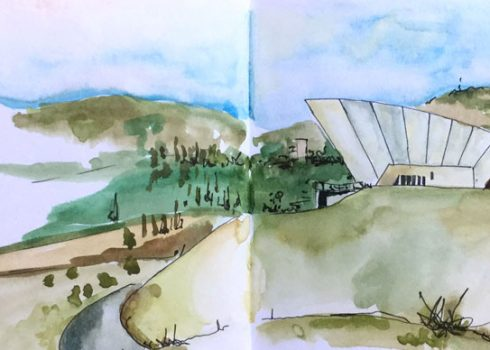 Morning Urban Sketching at the Arboretum