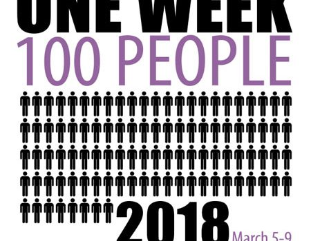One Week 100 People challenge 2018
