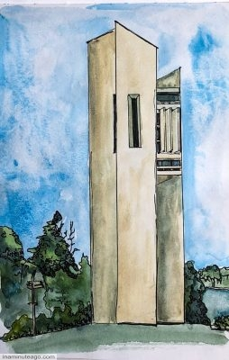 Sketch of the Carillion building Canberra