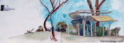Urban Sketch of Botanic Gardens Canberra