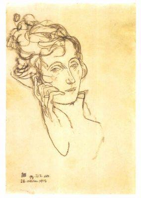 Edith Schiele on her deathbed