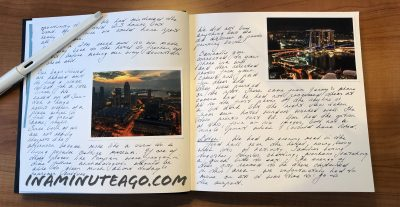 Travel journal tip 1 Print on demand photos in travel journal