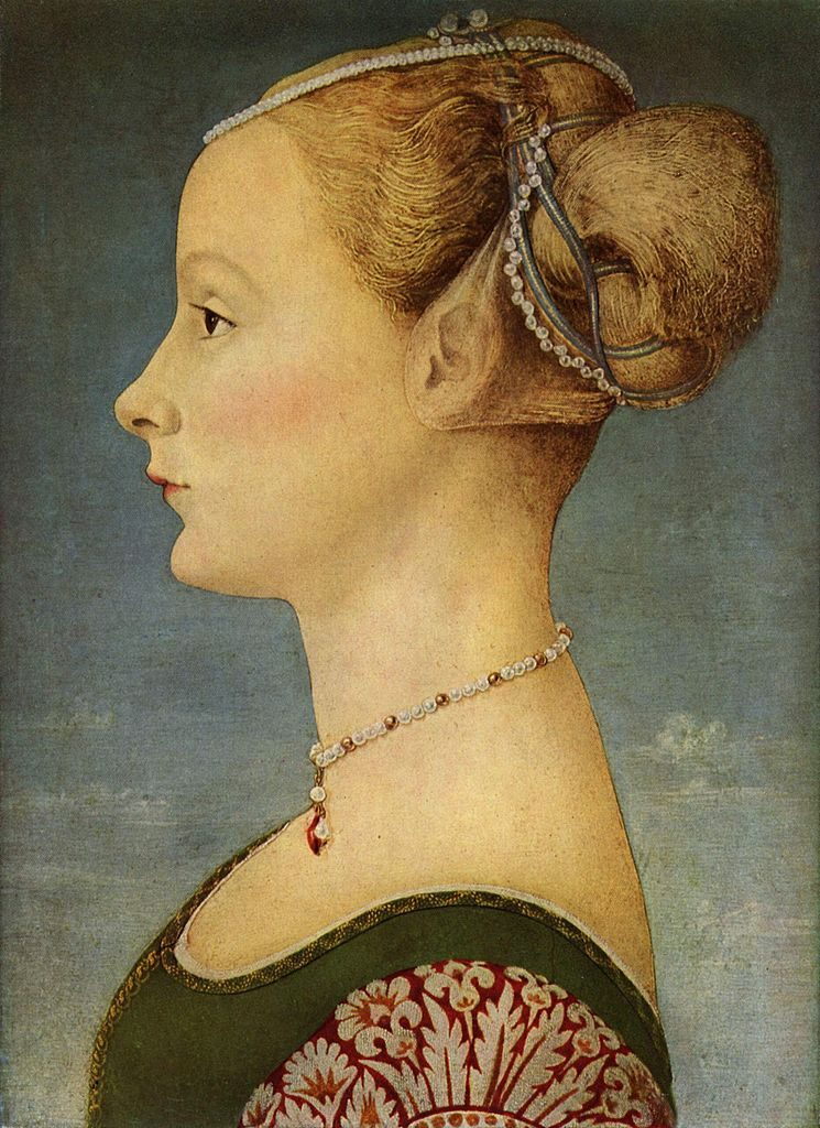 Portrait of a young woman by Piero del Pollaiuolo