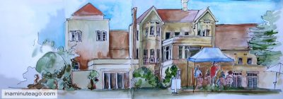 Urban Sketch of Government House Canberra