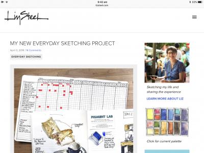 Screenshot of Liz Steel website