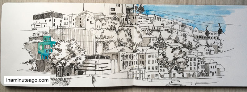 USK Symposium 2018 Porto hillside sketch