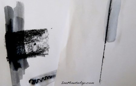 ArtGraf water soluble tailor shape tablet swatch that demonstrates the range of marks possible