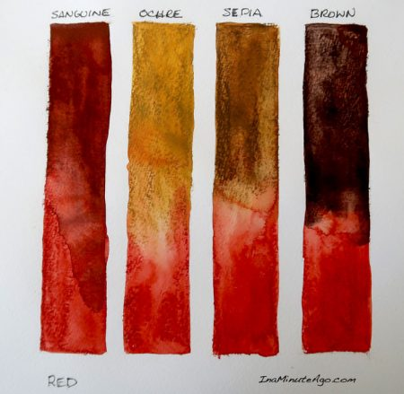 ArtGraf water soluble tailor shape tablet swatch red to earth